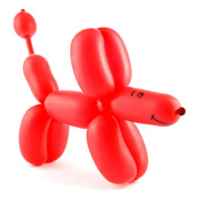 A Red Balloon Dog