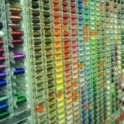 Rolls of cotton in a haberdashery shop